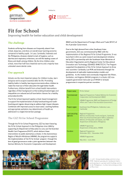 Fit for School Fact Sheet