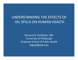 understanding the effects of oil spills on human health