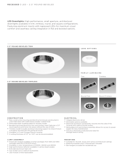LED Downlights: High performance, small aperture