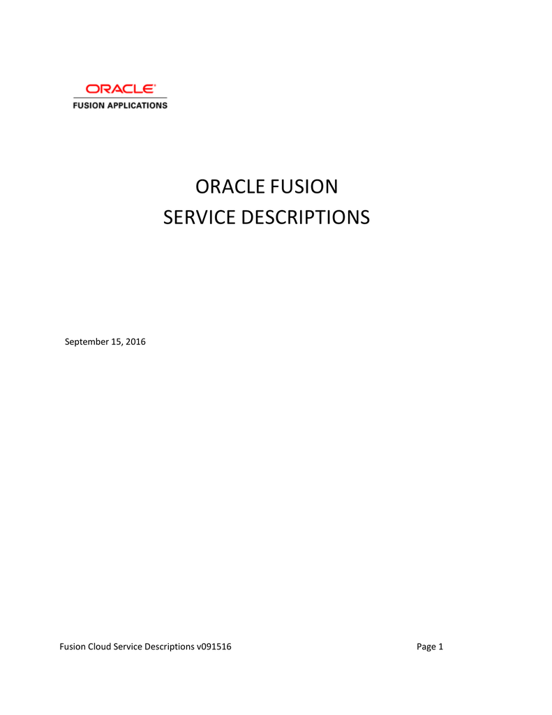 oracle fusion service descriptions rh studylib net
