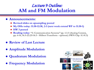 AM and FM Modulation