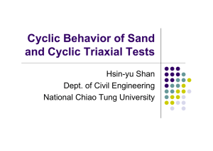 Cyclic Behavior of Sand and Cyclic Triaxial Tests