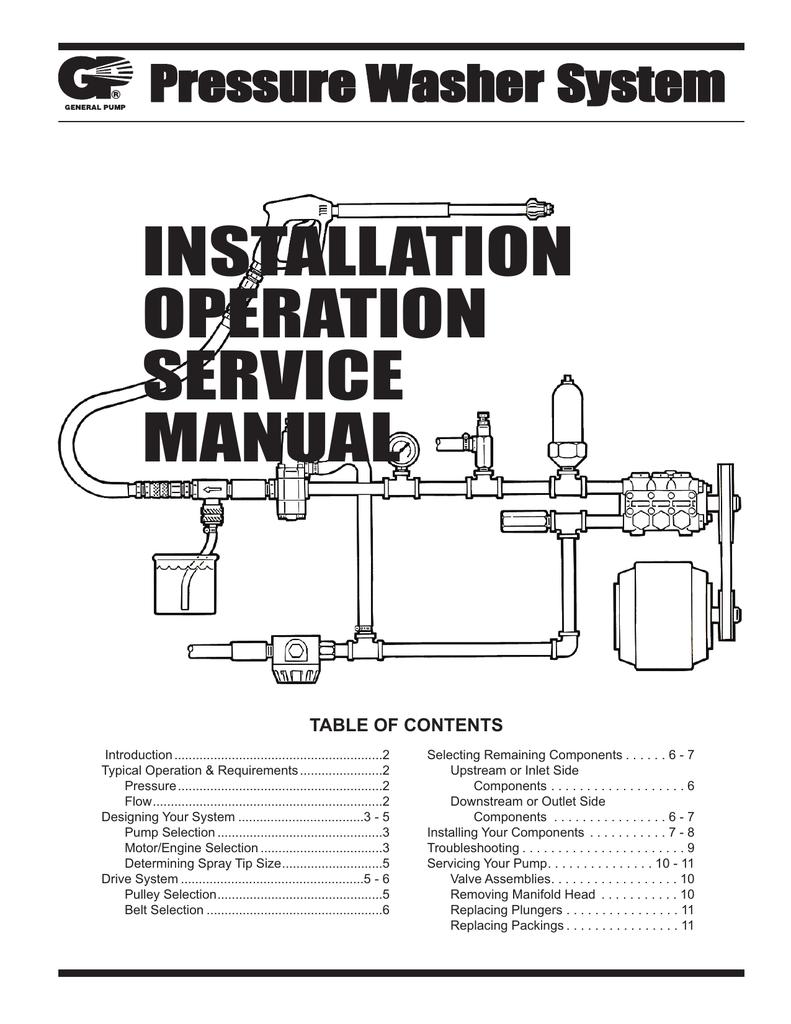 installation operation service manual rh studylib net Landa Pressure Washer Service Manual Pressure Washer Clutch