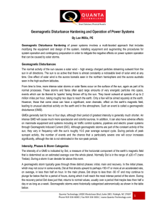 Geomagnetic Disturbance Hardening and Operation of Power