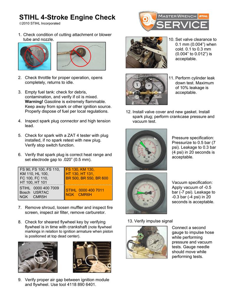 STIHL 4-Stroke Engine Check