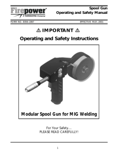 Modular Spool Gun for MIG Welding Operating