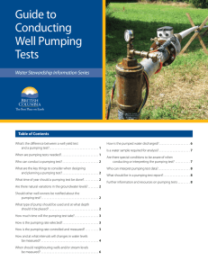 Guide to Conducting Well Pumping Testing