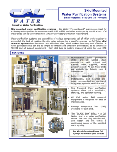Skid mounted water purification systems