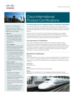 Cisco International Product Certifications