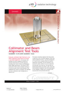 Collimator and Beam Alignment Test Tools