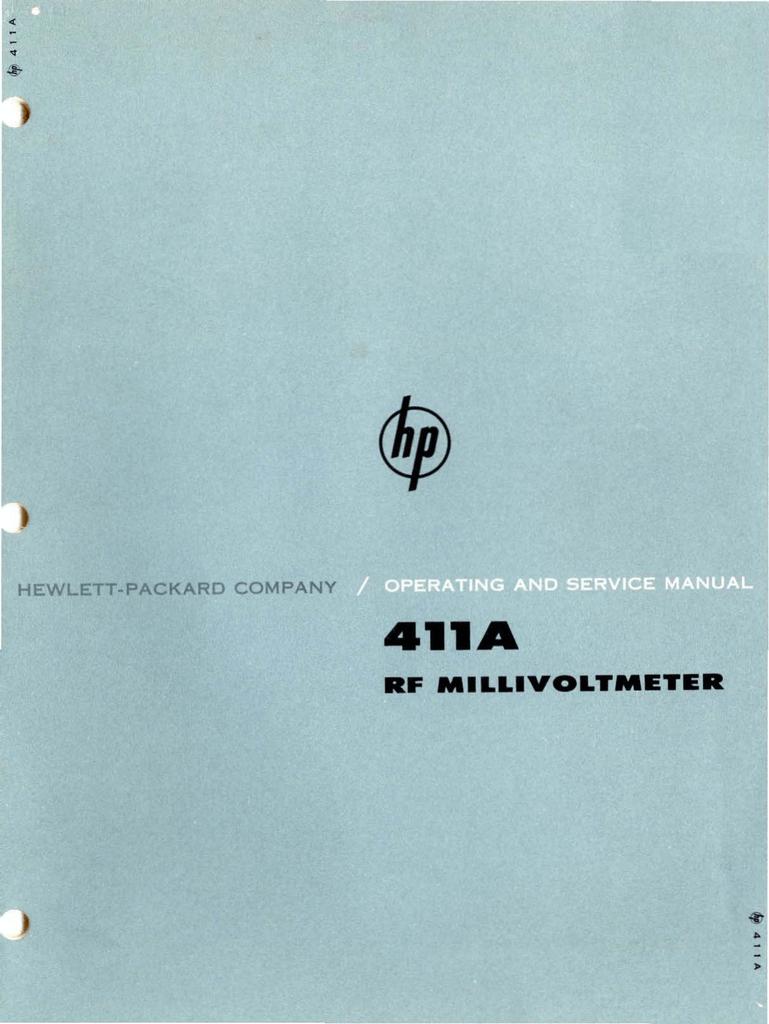 Rf Millivoltmeter