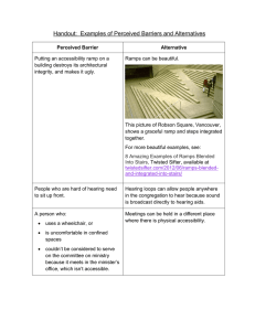 Handout: Examples of Perceived Barriers and Alternatives