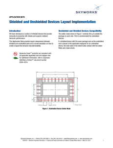 Shielded and Unshielded Devices Layout Implementation