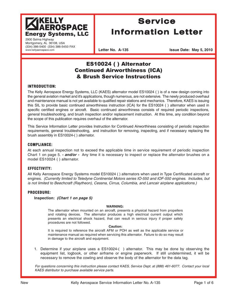 Service Information Letter Raytheon Wiring Harness