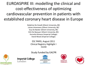 EuroAspire III: modelling the clinical and cost