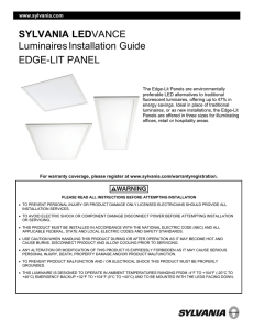LEDVANCE LuminairesInstallation Guide EDGE-LIT PANEL