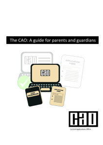 The CAO: A guide for parents and guardians