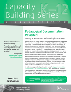 Pedagogical Documentation Revisited: Looking at Assessment and