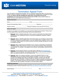 Termination Appeal Form