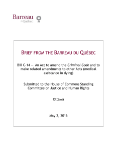 brief from the barreau du québec