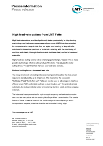 High feed-rate cutters from LMT Fette