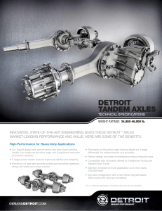Detroit Tandem Axles Spec Sheet