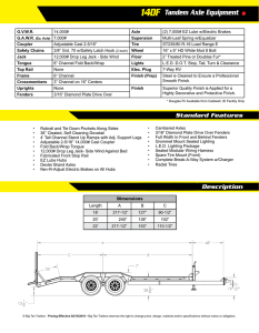 14DF Tandem Axle Equipment