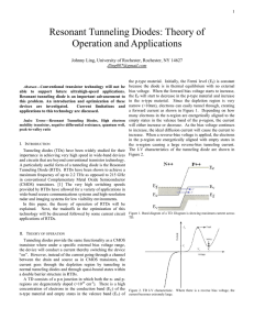 Resonant Tunneling Diodes: Theory of Operation and Applications