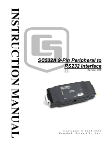 SC532A 9-Pin Peripheral to RS232 Interface