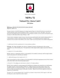 NFPA 72 National Fire Alarm Code