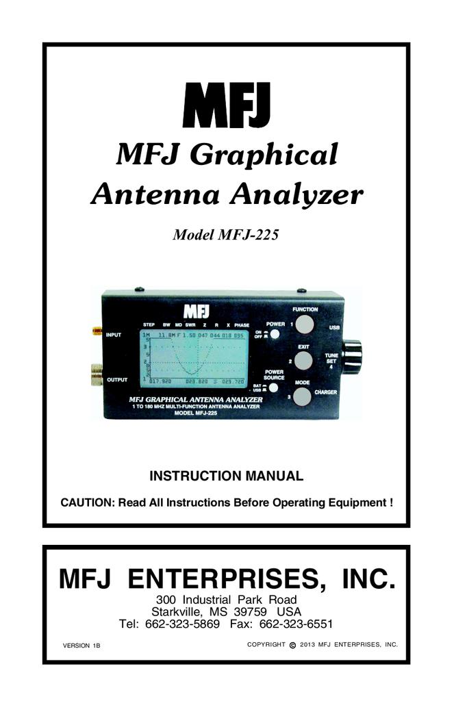 MFJ Graphical Antenna Analyzer
