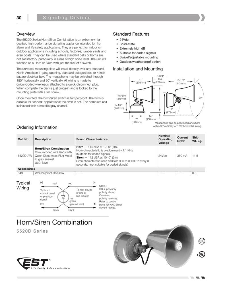 Horn Siren Combination Multitone Alarm Circuit Diagram