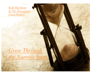 Grow Through the Narrow Spots