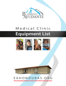 Medical Clinic Equipment List