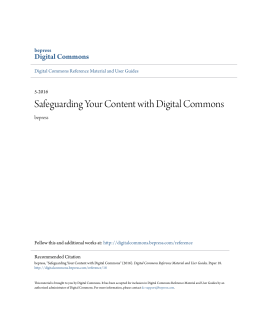 Safeguarding Your Content with Digital Commons