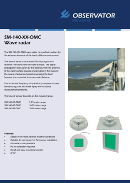 SM-140-XX-OMC Wave radar