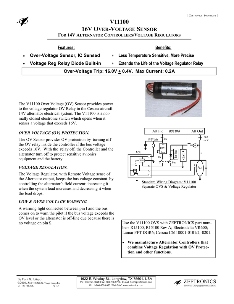 V11100 - Zeftronics | Vr600 Voltage Regulator Wiring Diagram |  | StudyLib