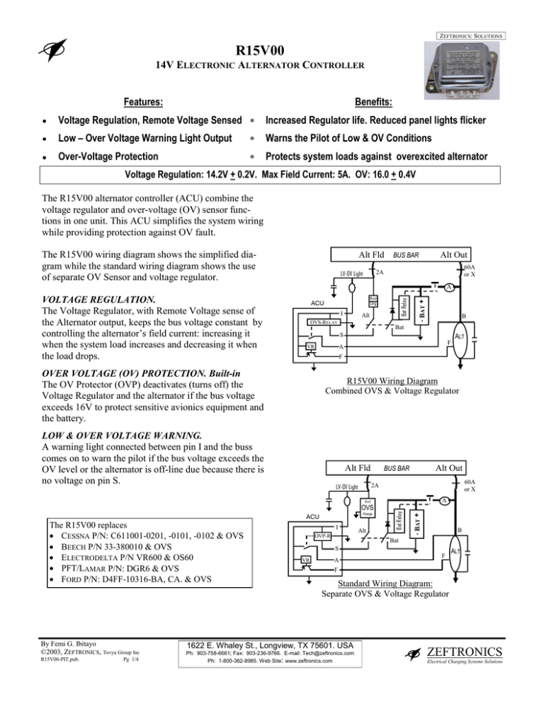 R15V00 - AeroElectric Connection | Vr600 Voltage Regulator Wiring Diagram |  | StudyLib