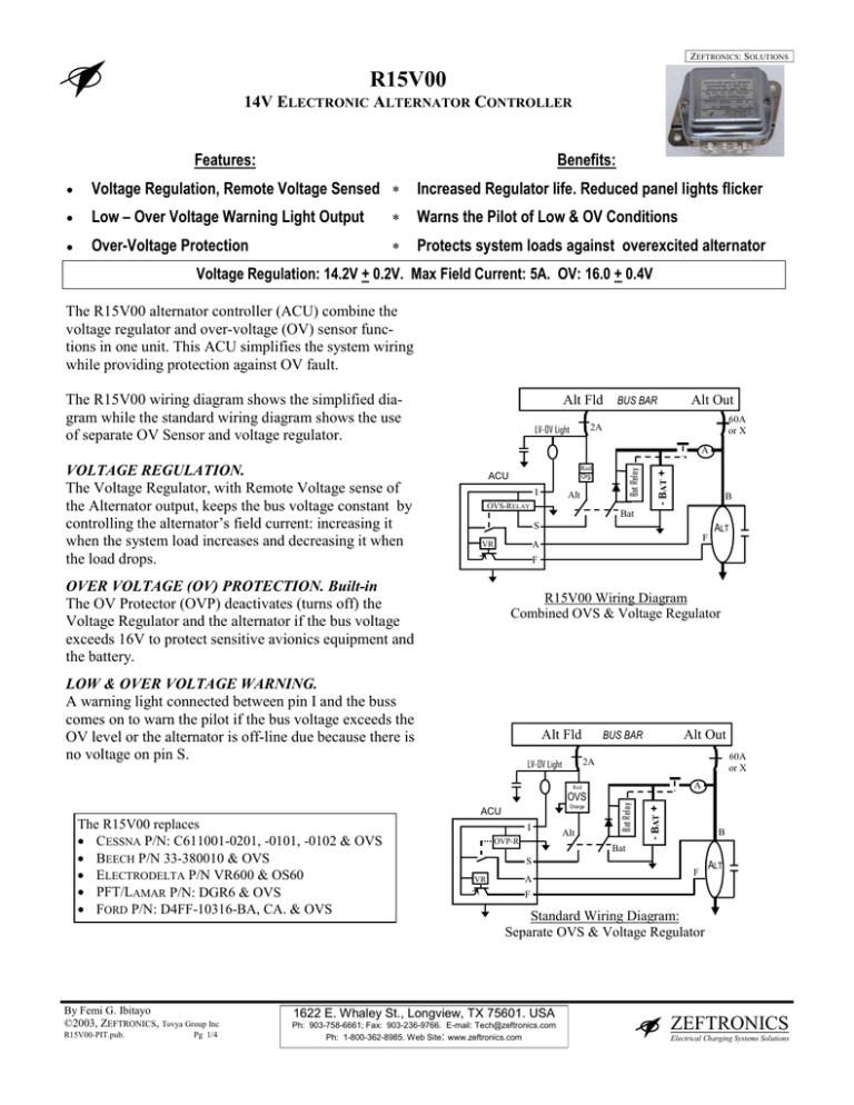 R15V00 - AeroElectric Connection | Vr600 Voltage Regulator Wiring Diagram |  | StudyLib