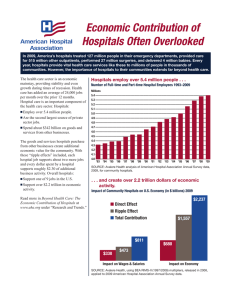 Economic Contribution of Hospitals Often Overlooked
