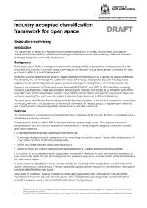 Industry accepted classification framework for open space