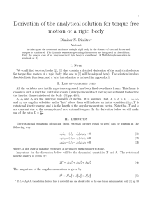Derivation of the analytical solution for torque free motion of a rigid