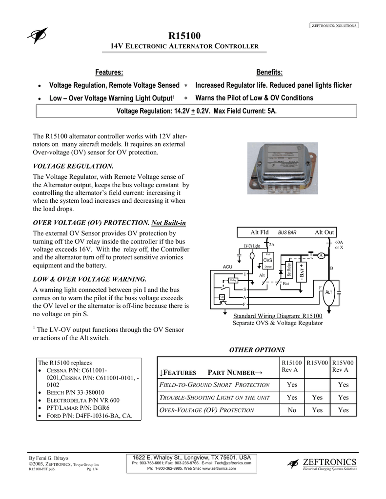 R15100 - Zeftronics | Vr600 Voltage Regulator Wiring Diagram |  | StudyLib