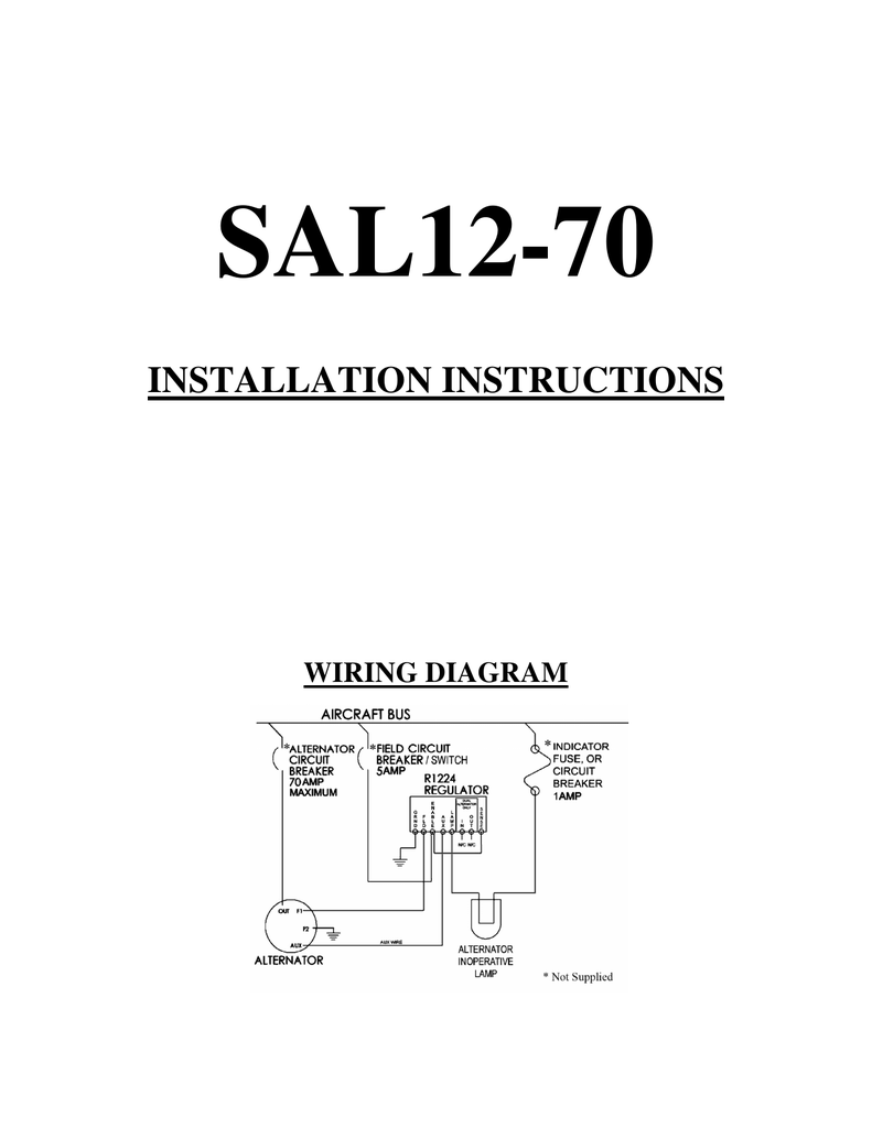 Installation Instructions Plane Aircraft Alternator Wiring Diagram Free Picture