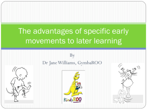 Gymbaroo_Why movement is important to later learning_2012