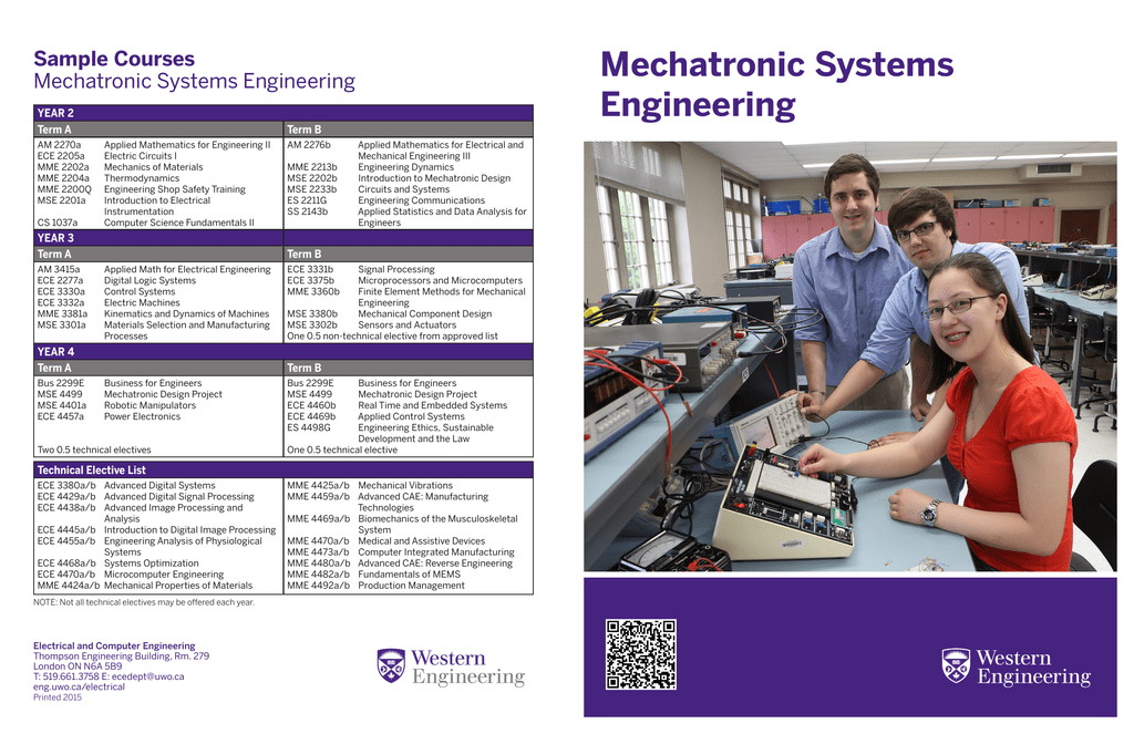 Mechatronic Systems Engineering