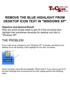 REMOVE THE BLUE HIGHLIGHT FROM DESKTOP ICON TEXT IN