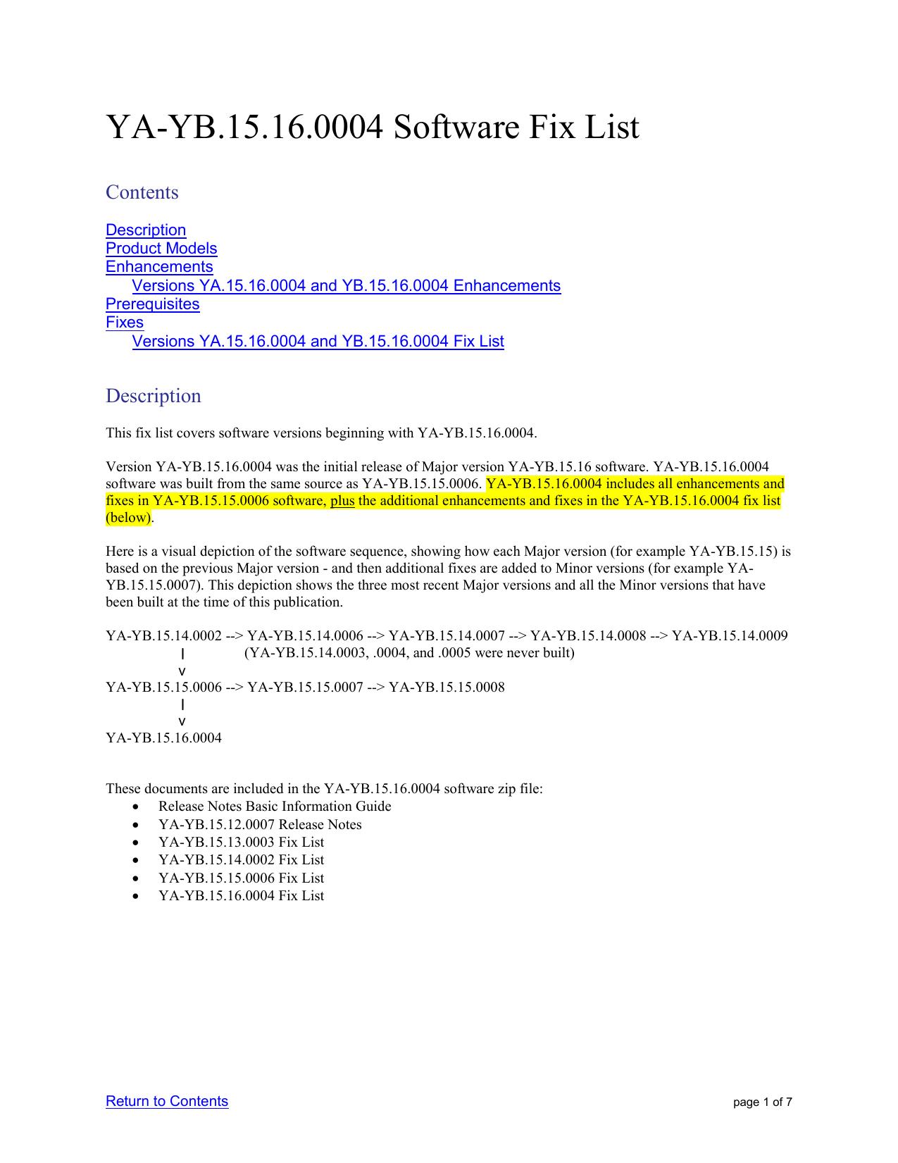 ... Array - fix list version ya yb 15 16 0004 software rh studylib ...