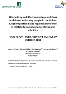 Life-Limiting and Life-threatening conditions in children and young