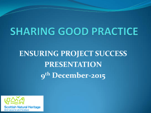 ENSURING PROJECT SUCCESS PRESENTATION 9th December